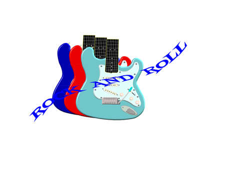 passing over: rock and roll with six string electric classic guitar in 3d