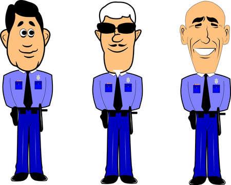 policia caricatura: polic�as en atenci�n