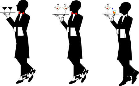 person shined: waiters  Illustration