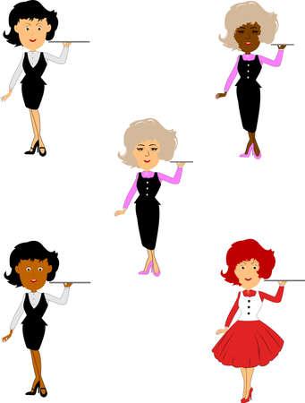 hairdo: waitress set  Illustration