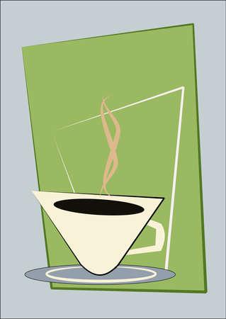 steaming: retro coffee concept
