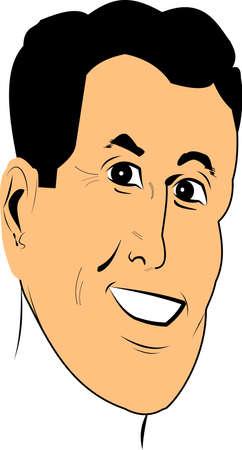 Fünfziger männliche Gesicht Standard-Bild - 19126241