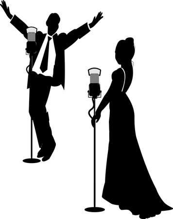 lounge act in silhouette Reklamní fotografie - 19126247