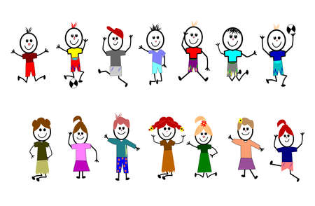 recess: stick kids having fun
