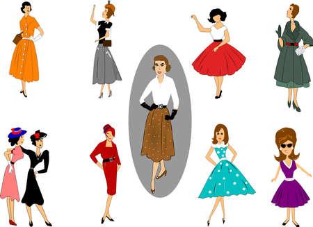 pencil skirt: fifties fashion set