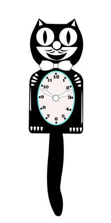 craze: retro cat clock