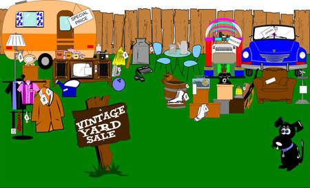 spectacular vintage yard sale