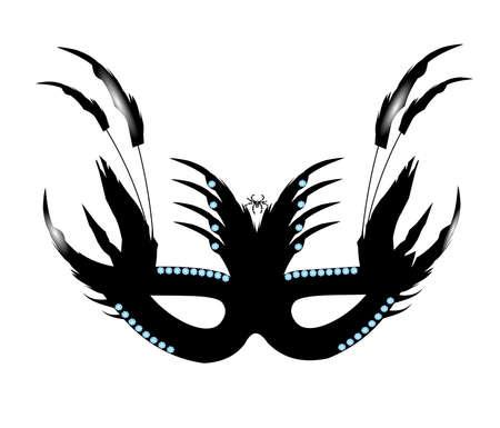 black widow: ornate spider masquerade mask