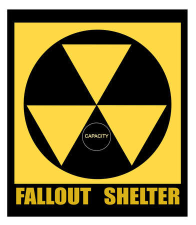 fallout shelter sign Stock Vector - 20011301