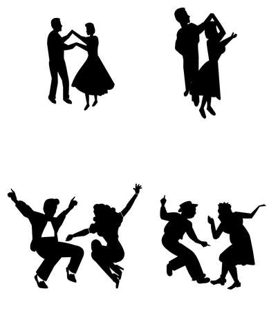 rock the house dancers  Vector