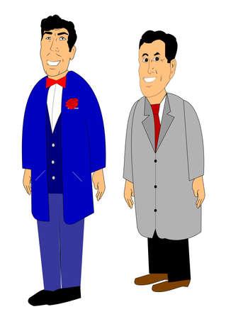 businessmen in cartoon style