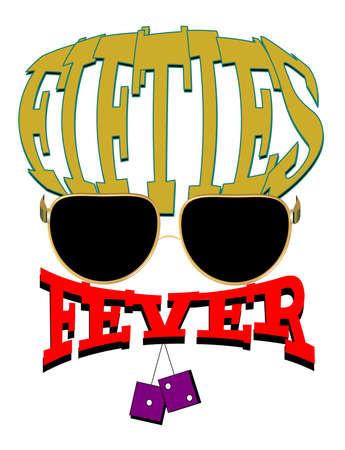 fifties fever concept Ilustração