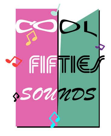 cool fifties sounds concept