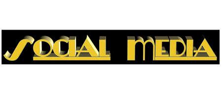 social media banner in 3d