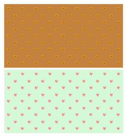 bloem behang patroon in pastel