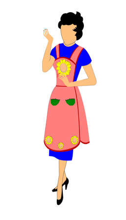 lady in apron  Vector