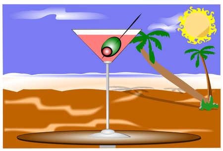 martini op het strand