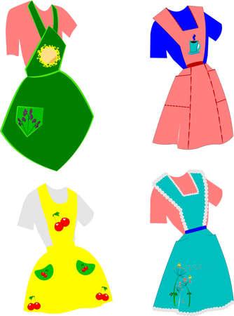 aprons: fifties apron design set