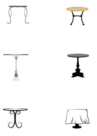 table set elements for cafe and bistro