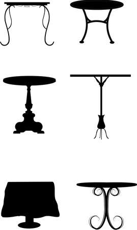 table set in silhouette