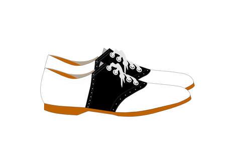 프로필 스타일의 안장 신발