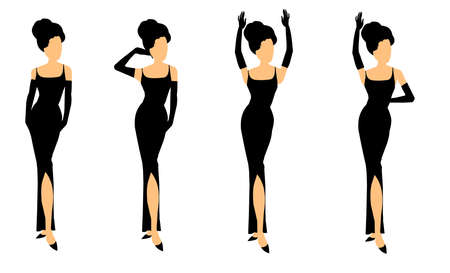 holly fashion set Stock Vector - 20463044