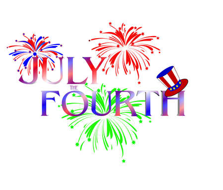 fourth of july: july the fourth concept
