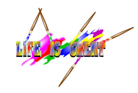 life is great concept Stock Vector - 20479965