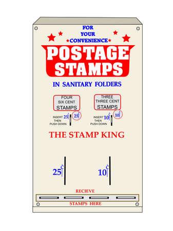 retro stamp machine Stock Vector - 20479949