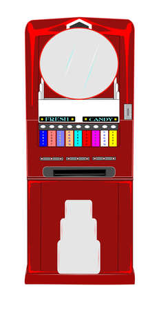vending: vintage candy vending  machine Illustration