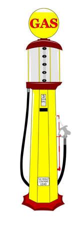 vintage gas pump Ilustracja
