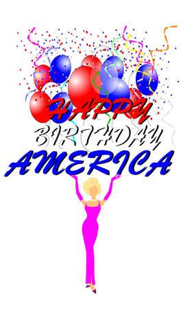 marilyn: happy birthday america with marilyn Stock Photo