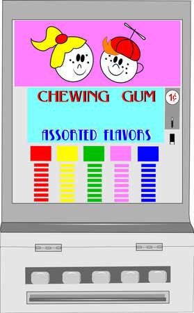 chewing: retro chewing gum vending machine
