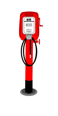 retro air pump from service station Vector