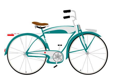 old fashioned: fifties bike Illustration