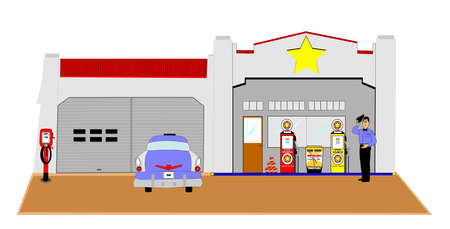 southern: 1956 gas station