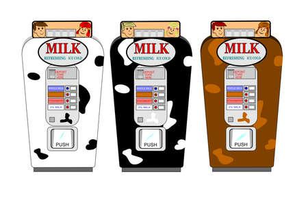 distribution automatique: r�tro distributeurs automatiques de lait mis en