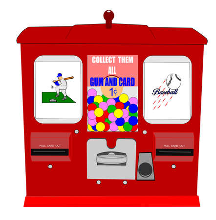 baseball card vending machine Vector