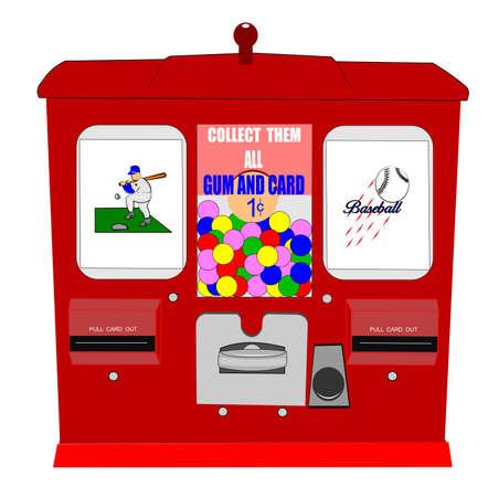 distribution automatique: distributeur de cartes de baseball
