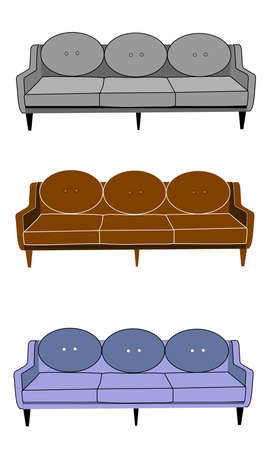 couch or sofa from fifties