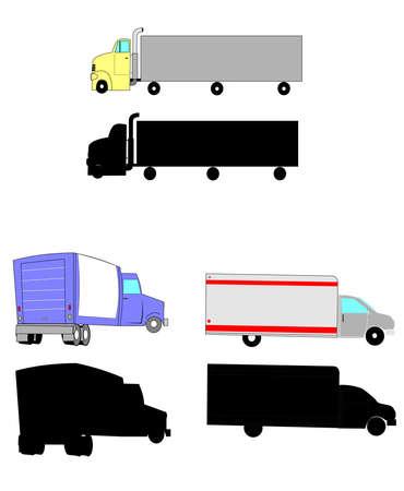 18 wheeler: moving trucks Illustration