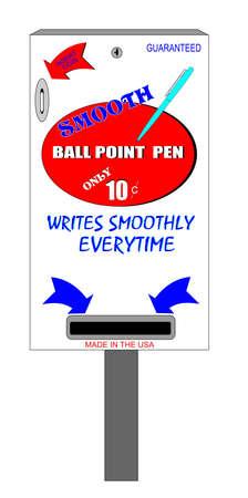 distribution automatique: distributeur automatique de stylo � bille lisse