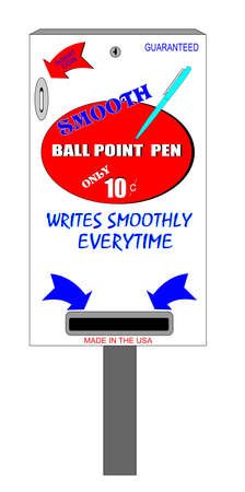 ball point: smooth ball point pen vending machine