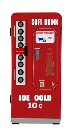 distribution automatique: machine distributrice de boissons gazeuses