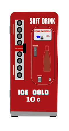 soft drink vending machine Vector