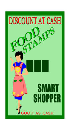 food stamps from fifties  photo