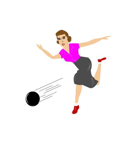 lady bowling