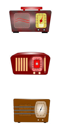 bakelite: vintage radios set