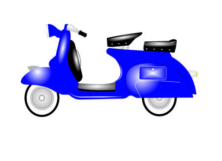 baby blue scooter Stock Vector - 20855132
