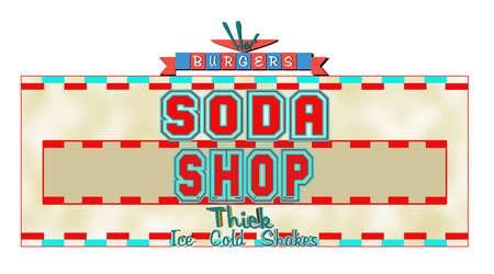 soda shop concept  Vector